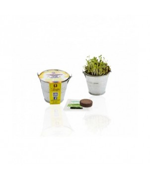 Kit plantation pot zinc 7 cm