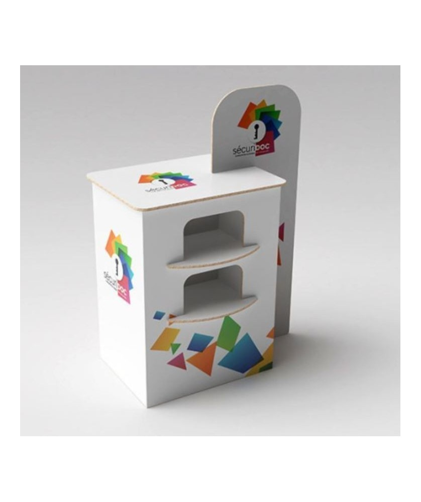 Comptoir d'accueil carton - Décoration entreprise Mobilier d'entreprise personnalisable - printecom.fr