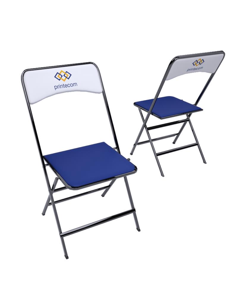 Chaise tissu pliante - Décoration entreprise Mobilier d'entreprise personnalisable - printecom.fr