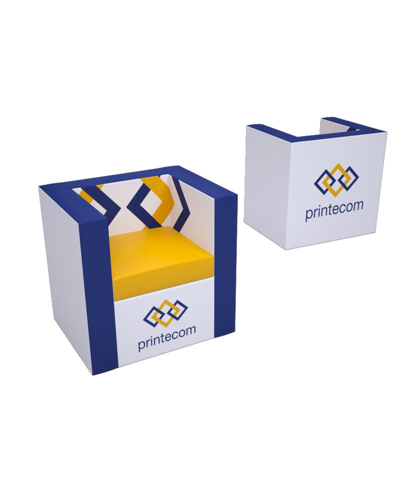Fauteuil Droit - Décoration entreprise Mobilier d'entreprise personnalisable - printecom.fr