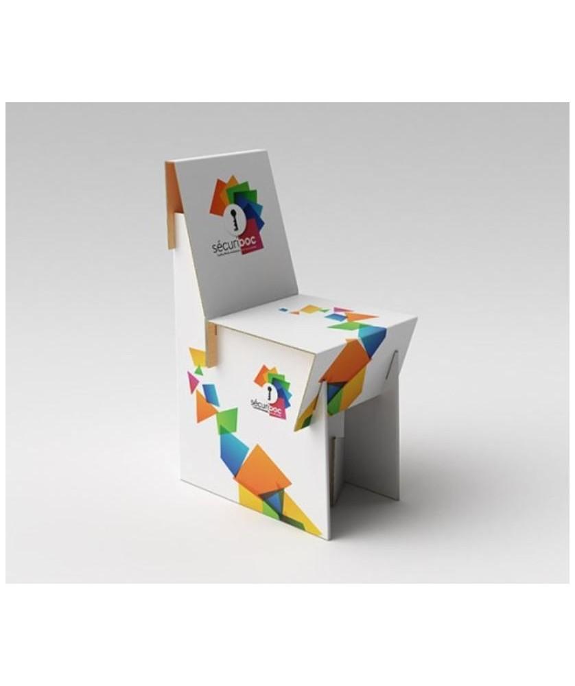 Chaise carton - Décoration entreprise Mobilier d'entreprise personnalisable - printecom.fr