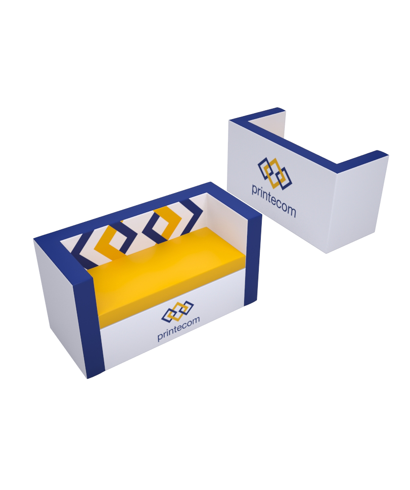 Canapé droit Luxe - Décoration entreprise Mobilier d'entreprise personnalisable - printecom.fr